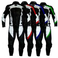 Tuta da per moto di pelle divisibile in due pezzi giacca e pantalone separabili