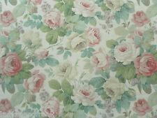 Sanderson Curtain Fabric CHELSEA 2.2m Pink/Celadon Vintage Floral Design 220cm