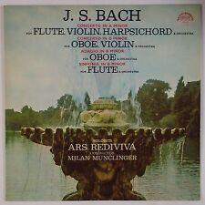 BACH: Flute, Violin, Harpsichord SUPRAPHON Vinyl LP NM Snitil