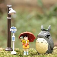 4pcs My neighbor totoro Street lamp Bus Stop Leaf totoro Gao Carry Mei Figure