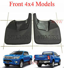 BLACK FRONT MUDFLAPS MUDGUARDS FOR TOYOTA HILUX REVO PICKUP 4x4 4WD 2015 2016 17