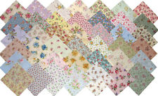 Chic & Shabby LITTLE ROSES Quilt Block Fabric Squares, 42 different fabrics!