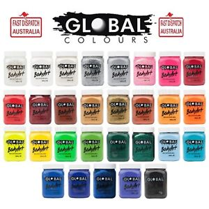 GLOBAL BODY ART 200ML FACE AND BODY PAINT PARTY COSTUME HALLOWEEN 25+ types
