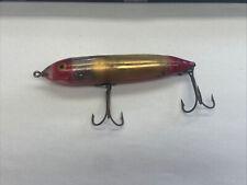 Vintage Heddon Nose Tie Zara Spook Fish Flash Gold Reflector Red TOUGH COLOR