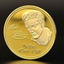 1 Pièce plaquée OR ( GOLD Plated Coin ) - Elvis Presley