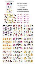 Nail Stickers 11pcs Set Cartoons Princess Water Decals Transfers Mickey Winnie +