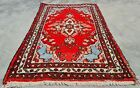 Authentic Hand Knotted Vintage Hamidoun Wool Area Rug 3 x 2 Ft (11276 KBN)