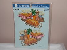 Vtg 1986 Decoral Handpainted Waterslide Decals Bread Tray A-84 New Old Stock