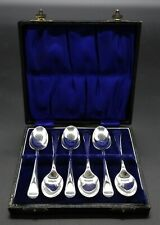 BOXED SET ARTHUR PRICE OLD ENGLISH TEA COFFEE DEMITASSE SPOONS SILVER PLATED
