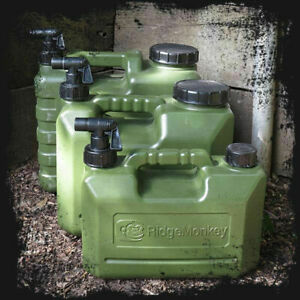 Ridgemonkey Heavy Duty Water Carrier Container Jerry Can Bottle + Tap All Sizes