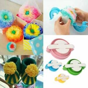 4pcs Pom Pom Makers Set Pompom Making Kit Fluff Ball Weaver Needle Knit Tools