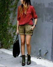 NWT Equipment Slim Signature Silk Shirt Red Nouveau Size S, M $214