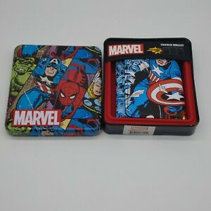 ✅Marvel Spiderman/Hulk/Captain America Trifold Wallet New With Tags Ships 🚀Free