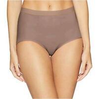 Wacoal Women's Flawless Comfort Brief Panty, deep, Deep Taupe, Size X-Large 0IHY