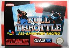 FULL THROTTLE ALL AMERICAN RACING SUPER NINTENDO PAL