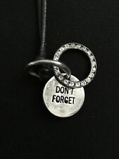 """Judith Leiber """"Don't Forget"""" Distressed Gunmetal Disc/ 26"""" Leather Cord Necklace"""