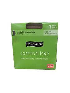 No Nonsense Control Top Pantyhose Size Plus Tan (6pk)