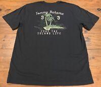 Tommy Bahama Men's Live the Island Life Short Charcoal Gray Sleeve T-Shirt Sz M