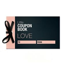 Blank Personalised Love Coupons for Him Her Booklet Book Editable Coupon Couples