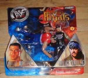 2002 WWF WWE Jakks Kurt Angle Undertaker Ringside Rivals 2 Wrestling figures