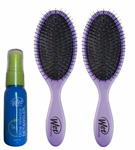 2 Pack Wet Brush Lovin Lilac w/ Free Wet Brush Time Release Detangler Spray