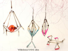 Konvolut 4 x GABLONZ Ornamente alter Christbaumschmuck aus Glas um 1930-40 #4