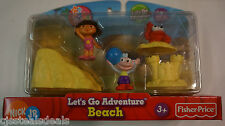 Dora the Explorer Nick Jr Fisher Price Let's Go Adventure Beach 5 Piece Pack
