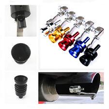 Black Universal Turbo Sound Whistle Muffler Exhaust Pipe Simulator For Kia Volvo