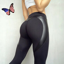 Women Sexy Hot High Waist Yoga Fitness Leggings Running Stretch Sports Pants US