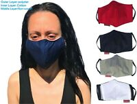 FACE MASK BLACK QUALITY  MOUNTH COVER COTTON  REUSABLE HANDMADE UK STOCK UNISEX