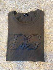 Dolce & Gabbana Logo Slim Fit Crew-Neck Men's T-Shirt, Dark Green Large