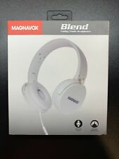 MAGNAVOX White, Blend Folding Headphones With Mic.  Great For Remote Learning.