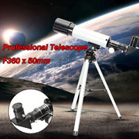 F360x50 Astronomical Monocular Telescope Tube Refractor Spotting Scope + Tripod