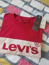 LEVIS T-SHIRT RED SIZE L NEW
