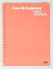 NIKON CLOSEUP EQUIPMENT MANUAL FROM 1978