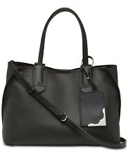 CALVIN KLEIN Jacky Black Pebbled Leather East/West Tote Bag NWT $228