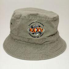 Tampa Florida Super Bowl Bucket Hat January 28 2001 7 1 2 MBNA America 85c95795158e