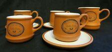 Bella Cotta terracotta 4 espresso cups 3 saucers 1 creamer Country Craft Pottery