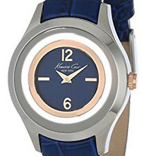 NEW $135 Kenneth Cole New York Women's Transparency Blue Leather Watch KC2784