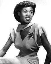 1940s Jazz Singer SARAH VAUGHAN Glossy 8x10 Photo Vocal Music Print Portrait