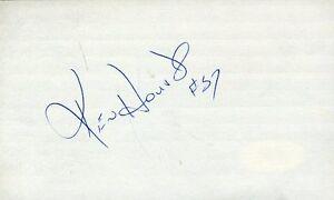 Ken Houston Hof Signed Jsa Cert Sticker 3x5 Index Card Authentic Autograph