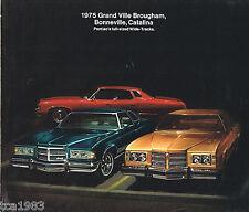 1975 Pontiac GRAND VILLE BROUGHAM, BONNEVILLE, CATALINA Brochure / Catalog, '75