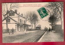 SOLTERES 1910< GARE TRAIN LIGNE PARIS LYON  BOURBONAIS