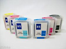 Refillable Ink Cartridges SET For HP 84/85 DesignJet 130gp 130nr 130r