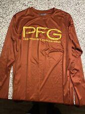 Men's Columbia Pfg Omni-Shade Polyester Long Sleeve Pullover Shirt M Medium