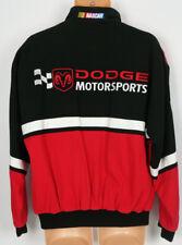 Dodge Ram Motorsport Nascar Jacket Mens Medium Essex Black Red Checkered Flag