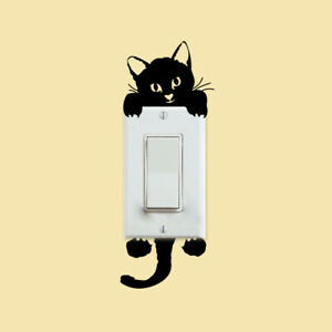 Cartoon Light Switch Cat Sticker 3D Wall Sticker Switch Protective Cover