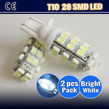 2PCS T10 28 SMD LED PARKER LIGHT WHITE LED WEDGE LIGHTS ULTRA SUPER BRIGHT 12V