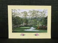 Linda Hartough Signed 10th Hole Camellia August National Masters Golf Lithograph