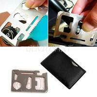 11 in 1 Multi Tool Emergency Survival Camping Pocket Military Credit Card Kit 1x